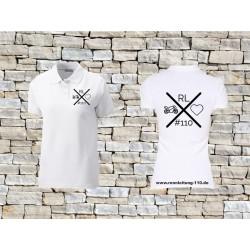 110 Frauen-Poloshirt weiß